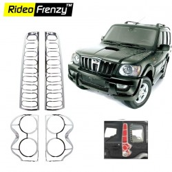 Buy Mahindra Scorpio 3rd gen Chrome Tail Light Covers online at low prices-Rideofrenzy