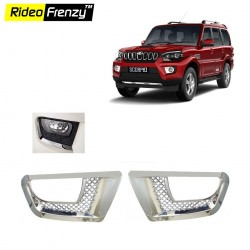Buy New Mahindra Scorpio 2014 Chrome Fog Lamp Covers online at low prices | RideoFrenzy
