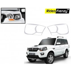Buy New Mahindra Scorpio Chrome HeadLight Covers online at low prices-Rideofrenzy