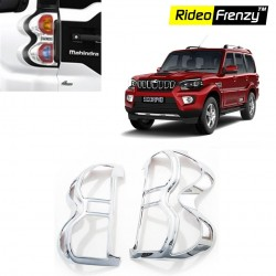 Buy New Mahindra Scorpio Chrome Tail Light Covers online at low prices-Rideofrenzy