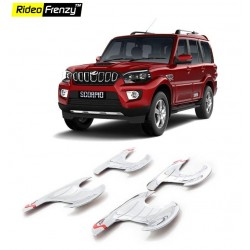 Buy New Mahindra Scorpio Chrome Handle Garnish online at low prices-Rideofrenzy