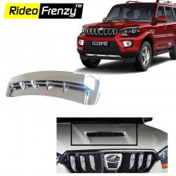 Buy New Mahindra Scorpio Chrome Bonnet Scoop online at low prices-Rideofrenzy