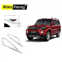 Buy New Mahindra Scorpio Chrome Eye Cat Garnish online at low prices-Rideofrenzy