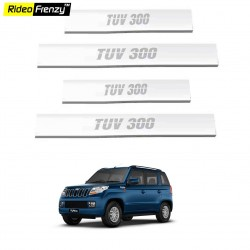Buy Mahindra TUV300 Stainless Steel Door Sill Plates online at low prices-Rideofrenzy
