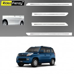 Buy Mahindra TUV300 White Chromed Side Beading online at low prices-Rideofrenzy