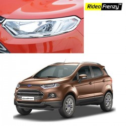 Buy Ford Ecosport Chrome HeadLight Covers online at low prices-Rideofrenzy