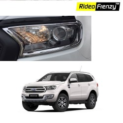 Buy Ford Endeavour Chrome Headlight Garnish online at low prices | Rideofrenzy