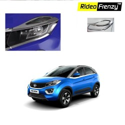 Buy Tata NEXON Chrome Head Light Garnish Covers online at low prices | Rideofrenzy