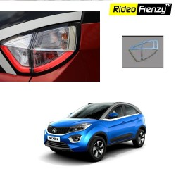 Buy Tata NEXON Chrome Tail Light Garnish Covers online at low prices | Rideofrenzy