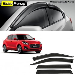 Buy Unbreakable Maruti Swift 2018 Door Visors in ABS Plastic at low prices-RideoFrenzy