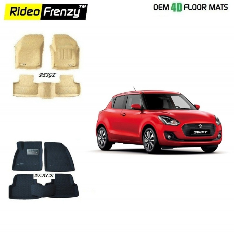 Buy Ultra Light Bucket 4D Crocodile Floor Mats for Maruti Swift 2018 at low prices-RideoFrenzy