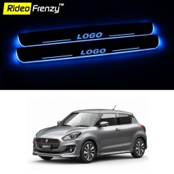 Buy Maruti New Swift 2018 3D Power LED Illuminated Scuff Plates at low prices-RideoFrenzy