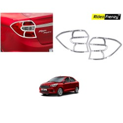 Buy Ford Figo Aspire Chrome Tail Light Cover at low prices | RideoFrenzy