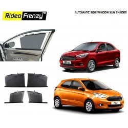Buy Automatic Side Window Sun Shade for Figo Aspire/New Figo at low prices-RideoFrenzy