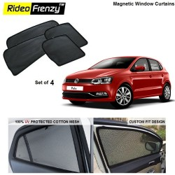 Buy Volkswagen Polo Magnetic Window Sunshades online at low prices | Rideofrenzy