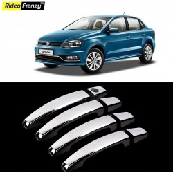Buy Volkswagen Ameo Chrome Handle Covers online at low prices | Rideofrenzy