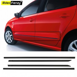 Buy Original Volkswagen Ameo Matt Black Side Beading online at low prices | Rideofrenzy