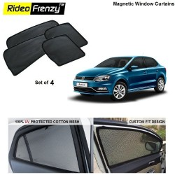 Buy Volkswagen Ameo Magnetic Window Sunshades online at low prices | Rideofrenzy