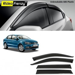 Buy Unbreakable Volkswagen Ameo Door Visors in ABS Plastic at low prices-RideoFrenzy