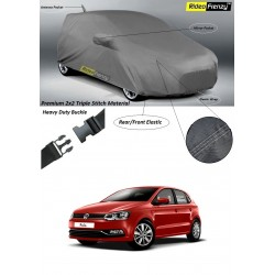 Buy Volkswagen Polo Car Cover with Mirror & Antenna Pockets online | Rideofrenzy