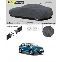 Volkswagen Ameo Car Cover with Mirror & Antenna Pockets online | Rideofrenzy