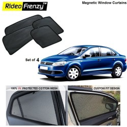 Buy Volkswagen Vento Magnetic Car Window Sunshades online at low prices | Rideofrenzy