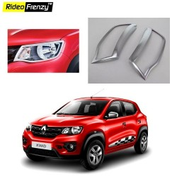 Buy Renault Kwid Chrome Head Light Cover online at low prices-Rideofrenzy