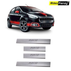 Buy Fiat Punto Stainless Steel Sill Plates online at low prices | Rideofrenzy