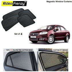 Buy Fiat Linea Magnetic Car Window Sunshades online at low prices | Rideofrenzy