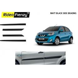 Buy Original Matt Black Nissan Micra Side Beading online at low prices | Rideofrenzy