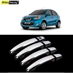 Buy Door Chrome Nissan Micra Handle Covers online at low prices | Rideofrenzy