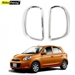 Buy Nissan Micra Chrome Tail Light Covers online at low prices | Rideofrenzy