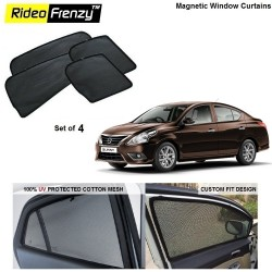 Buy Nissan Sunny Magnetic Car Window Sunshades online at low prices | Rideofrenzy