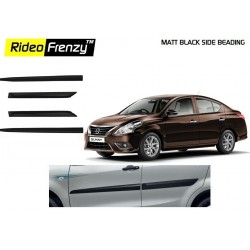 Buy Nissan Sunny Matt Black Side Beading online at low prices | Rideofrenzy