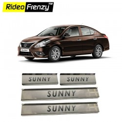 Buy Nissan Sunny Stainless Steel Sill Plates online at low prices | Rideofrenzy