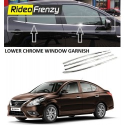 Buy Nissan Sunny Stainless Steel Chrome Window Garnish online | Rideofrenzy