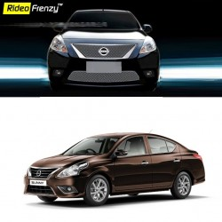Buy Glossy Finish Nissan Sunny Front Chrome Grill at low prices-RideoFrenzy