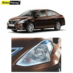 Buy Premium Quality Nissan Sunny Chrome HeadLight Garnish online | Rideofrenzy