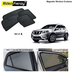 Buy Nissan Terrano Magnetic Car Window Sunshade online at low prices | Rideofrenzy