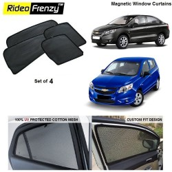 Buy Chevrolet Sail Uva/Sail Magnetic Car Window Sunshade online | Rideofrenzy