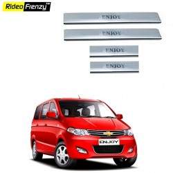 Buy Chevrolet Enjoy Door Stainless Steel Sill Plates online at low prices | Rideofrenzy