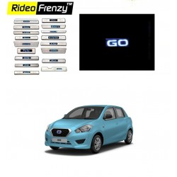 Buy Datsun Go Illuminated Scuff Plate with Blue LED online | Rideofrenzy