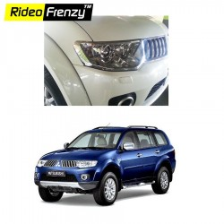 Buy Premium Quality Pajero Sport Chrome HeadLight Covers online | Rideofrenzy