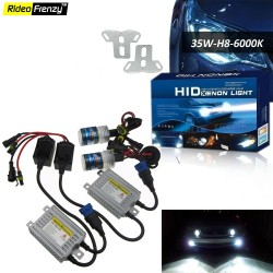 Buy Diamond White H8 6000K Car Fog Lamp Light HID Light Conversion Kit-35W at low prices-RideoFrenzy