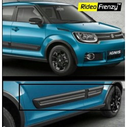 Buy Maruti Ignis Black Side Cladding at low prices-RideoFrenzy