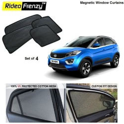 Buy Tata NEXON Magnetic Window Sunshades at low prices-Rideofrenzy