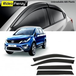 Buy Unbreakable Tata HEXA Door Visors in ABS Plastic at low prices-RideoFrenzy