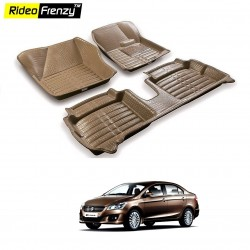 Buy Maruti Ciaz Full Bucket 5D Crocodile Floor Mats|Free Shipping