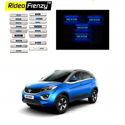 Buy Tata NEXON Illuminated Scuff Plates at best prices-RideoFrenzy