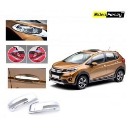 Buy Honda WRV Chrome Combo Set of Head lights,Tail lights,Mirror Covers,Handle covers